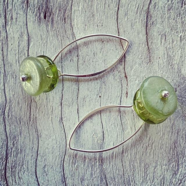 Bethany Wines Chardonnay Bottle Earrings