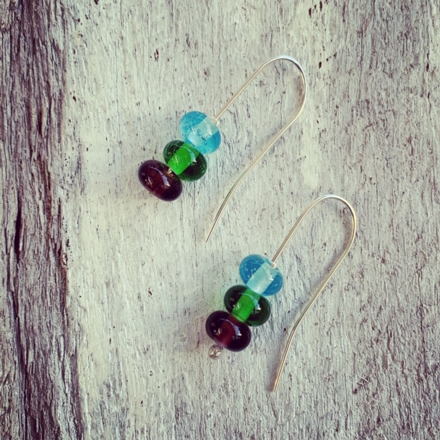 Gin bottle earrings