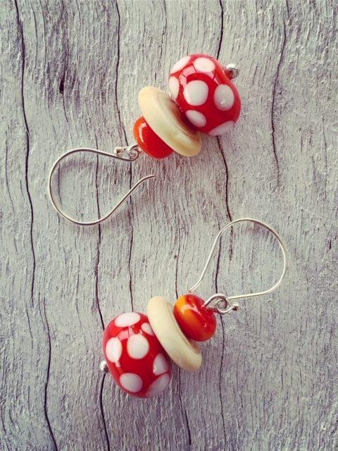 Orange dotty earrings