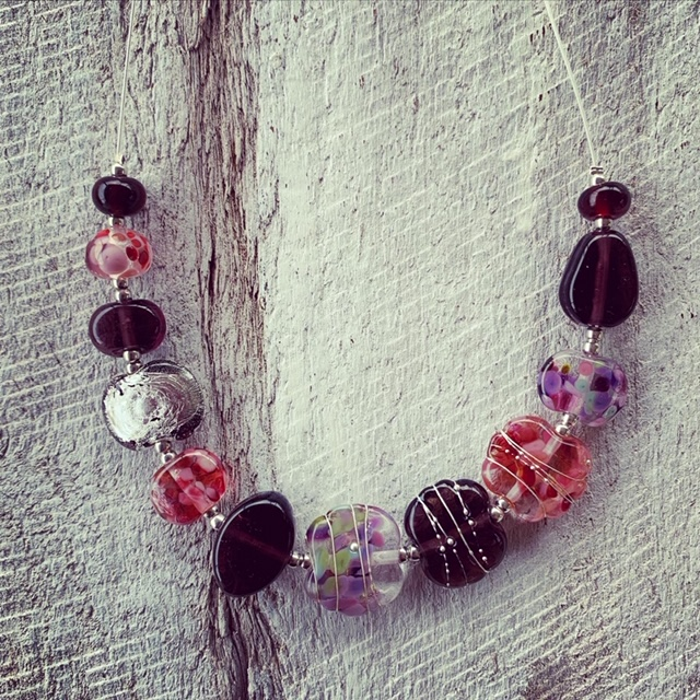 Stunning recycled glass necklace
