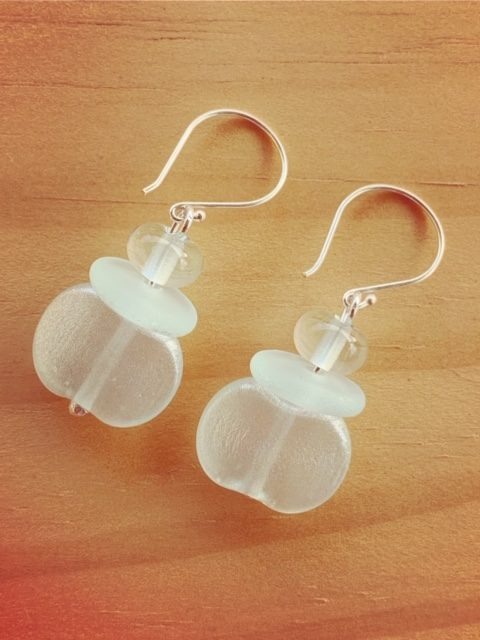 Banrock Station recycled glass earrings with various finishes