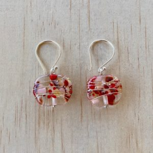 coloured wine bottle earrings