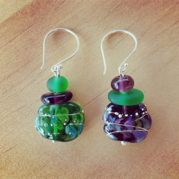 Tanqueray and Hendricks Limited Release gin bottle earrings
