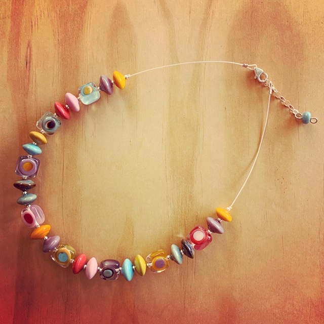 colourful glass necklace