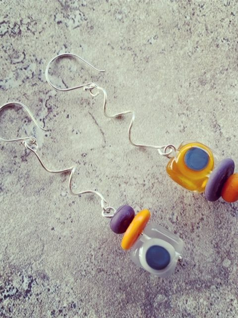 Twisty upside down earrings