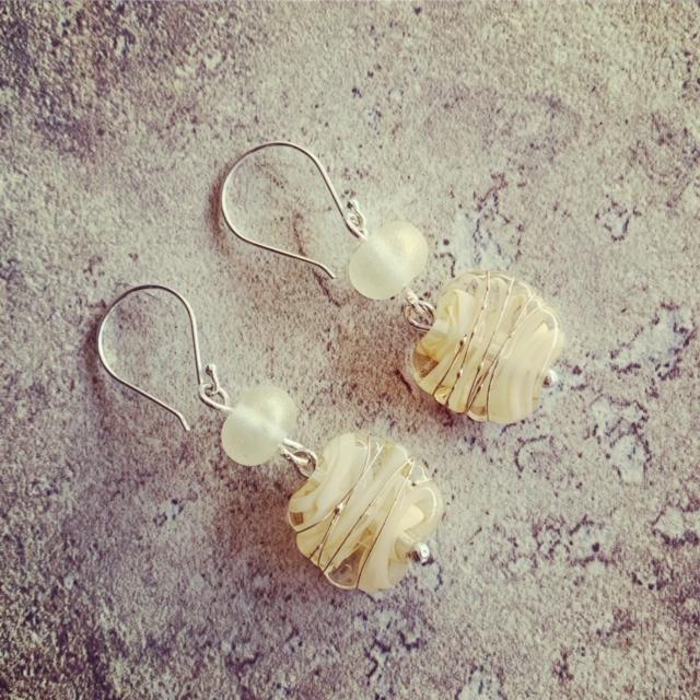 Cream Filigrano Earrings