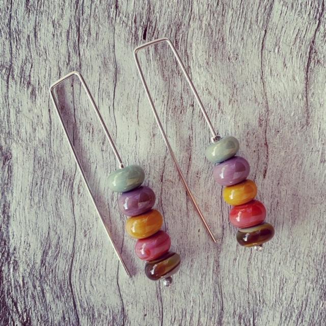 Long earrings for Autumn