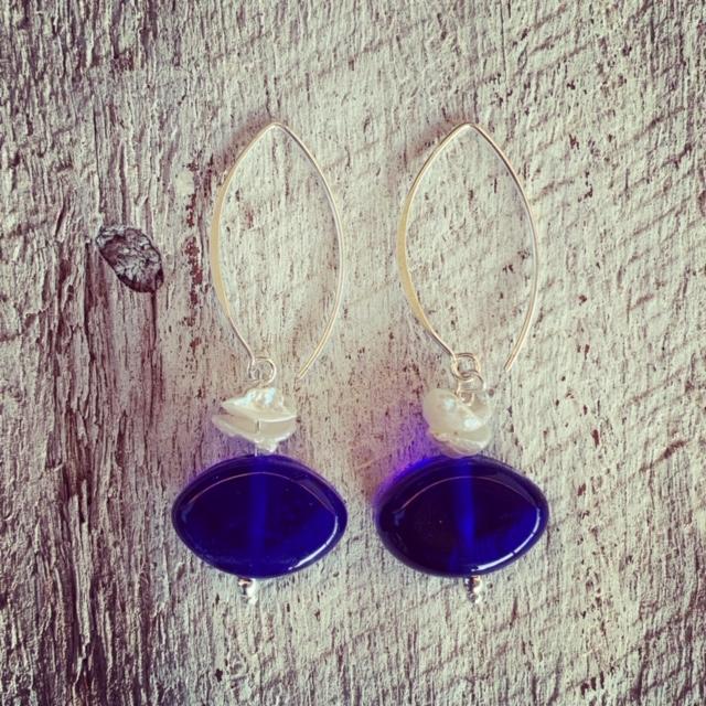 Skyy Vodka and Pearl earrings