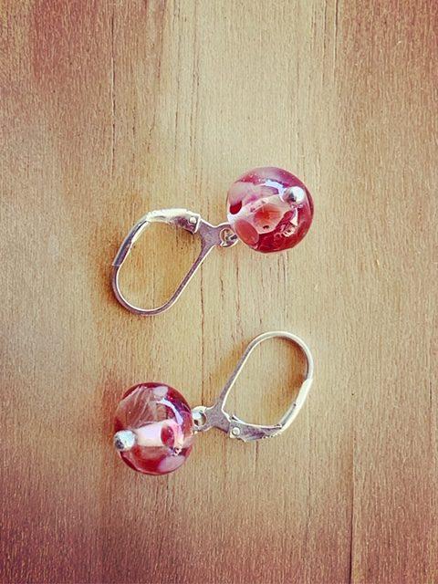 Dainty recycled glass earrings