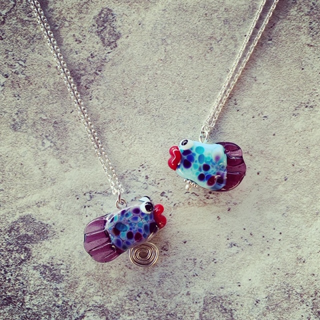Glass Fish Necklace