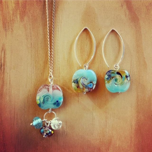 ocean inspired glass jewellery