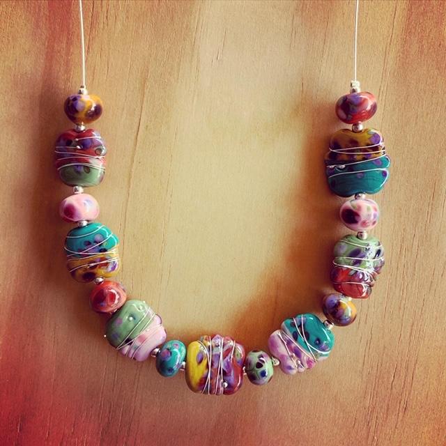 handmade glass necklace