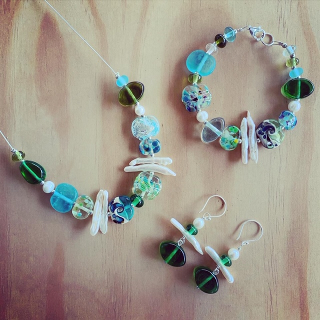 recycled glass jewellery