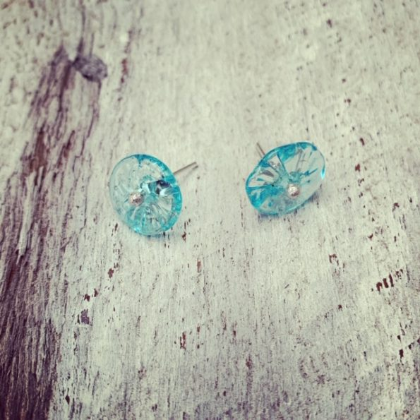 Bombay Sapphire Gin stud earrings