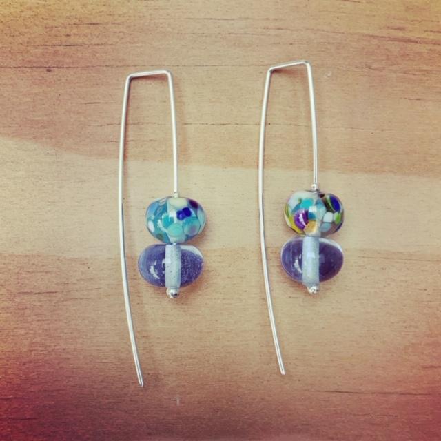 French Gin bottle earrings