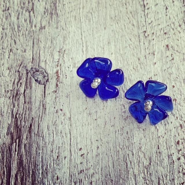 vodka flower earrings