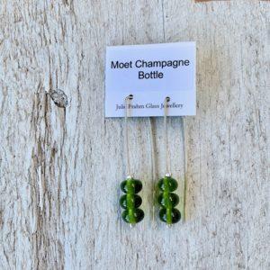 champagne bottle earrings