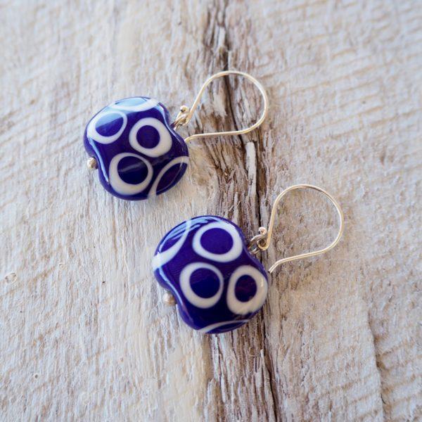 cobalt blue earrings