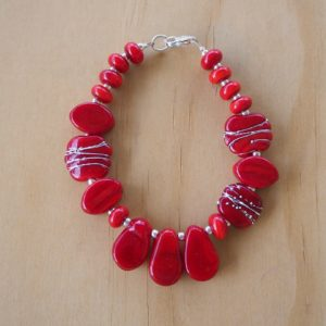 red glass bracelet