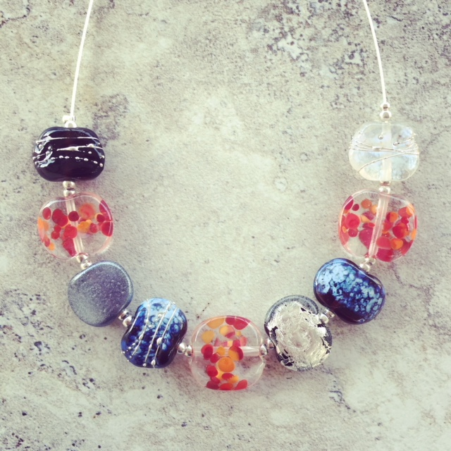 recycled glass bead jewellery