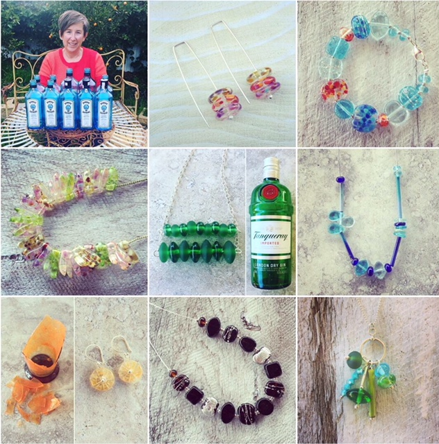 A year of recycled glass jewellery
