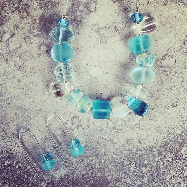 Recycled glass jewellery | beads made from gin and wine bottles