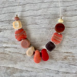 Coral brown necklace
