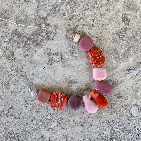 Coral and pink necklace