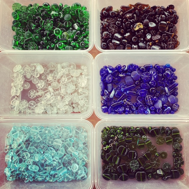 Recycled glass beads | behind the scenes of my recycled glass bead collection!