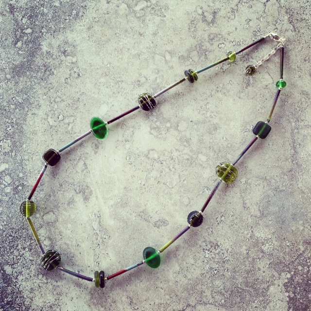 Recycled glass beads | beads made from a wine bottle from Bethany Wines in the Barossa Valley