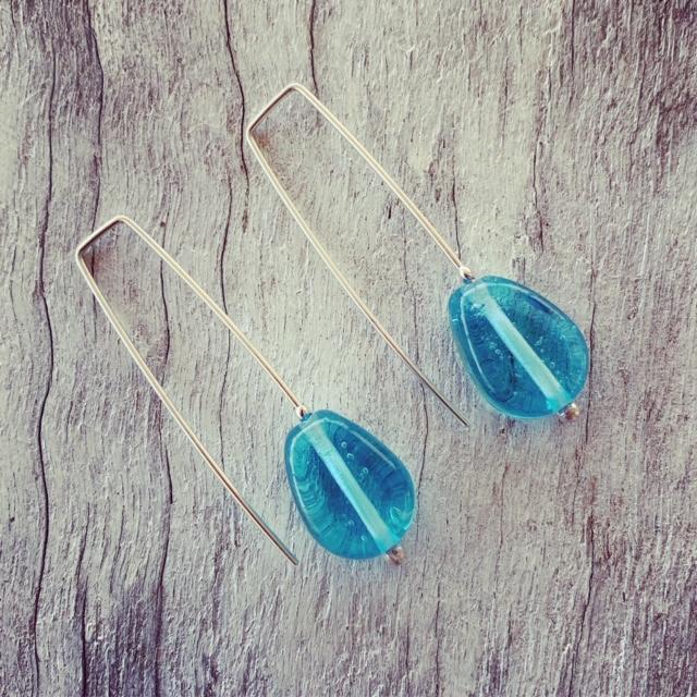 Custom request for Bombay Sapphire Gin bottle earrings
