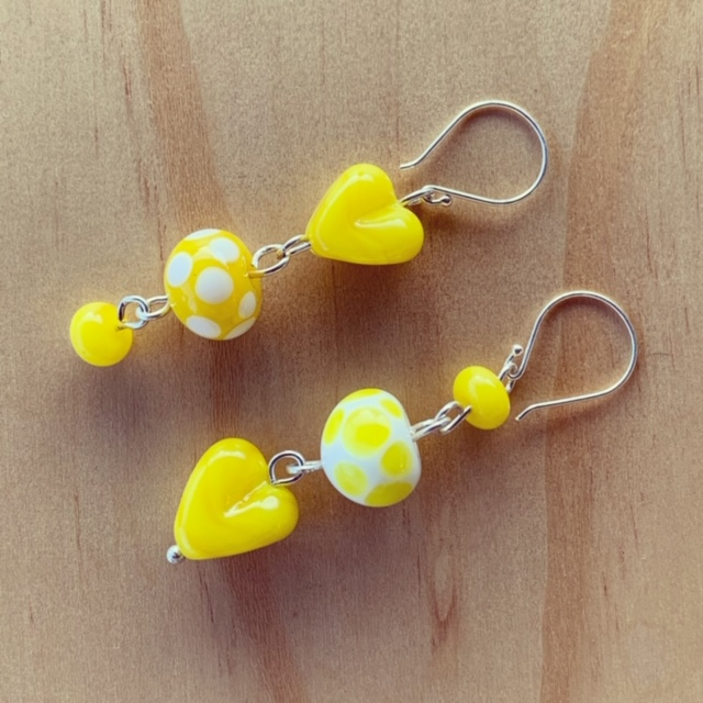 Bright Yellow Mismatched Earrings