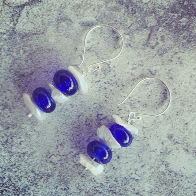 Skyy Vodka and Pearl Earrings