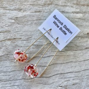 recycled glass earrings made from a wine bottle