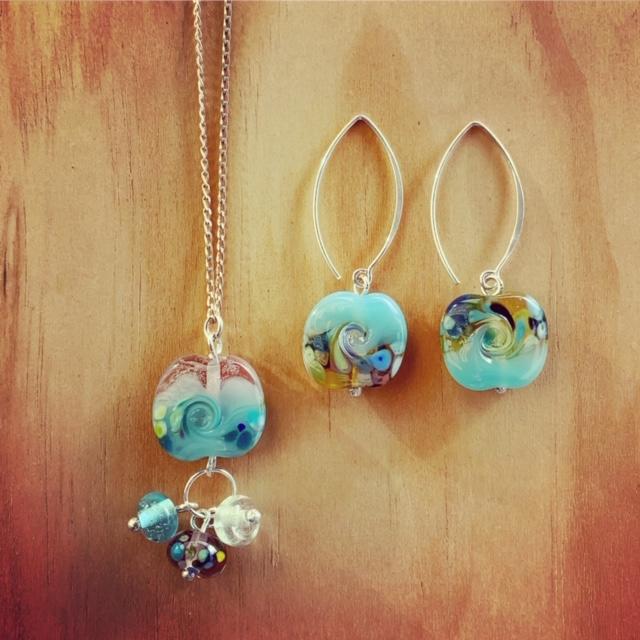ocean inspired glass jewellery
