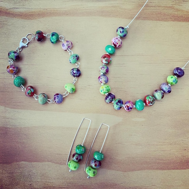 handmade glass bead jewellery