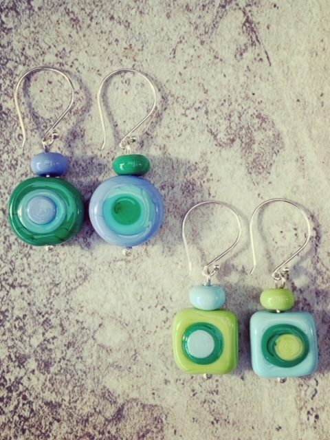 Kandinsky inspired earrings