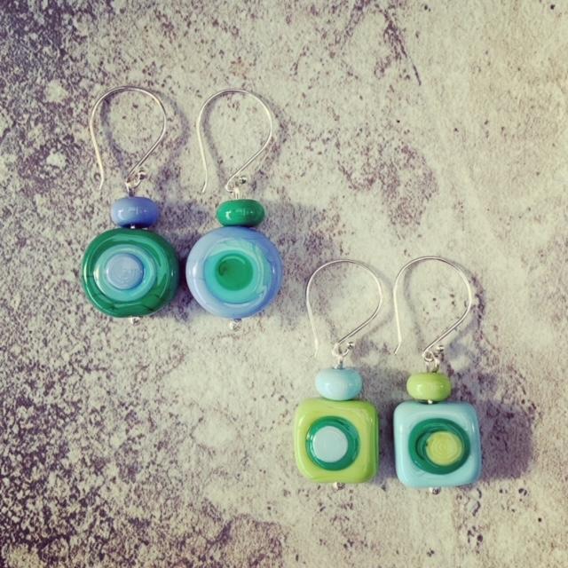 Kandinsky inspired earrings