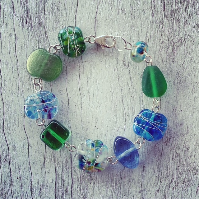 handmade glass bracelet