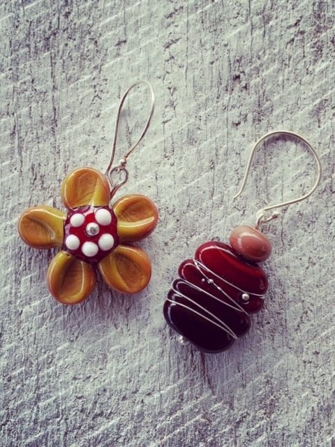 Mismatched earrings