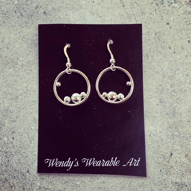 champagne lover earrings
