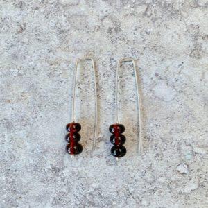 hendricks gin bottle earrings