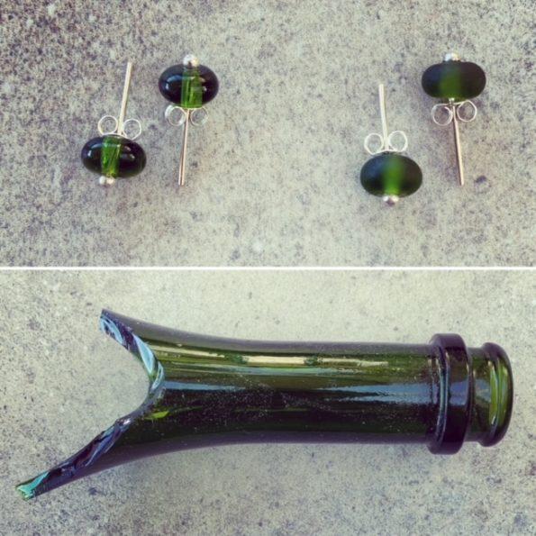 Moet Champagne Bottle Stud Earrings