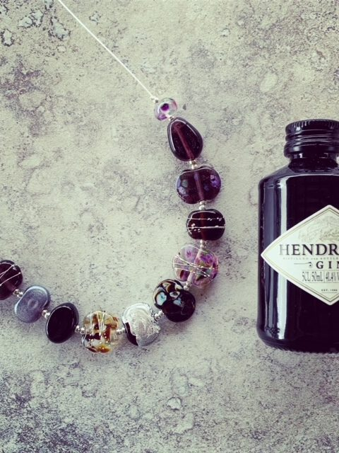 Hendricks Gin Bottle Necklace