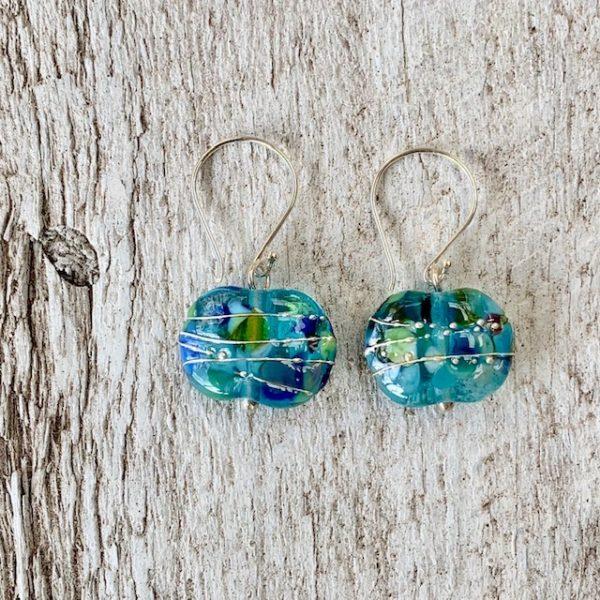 gin bottle earrings