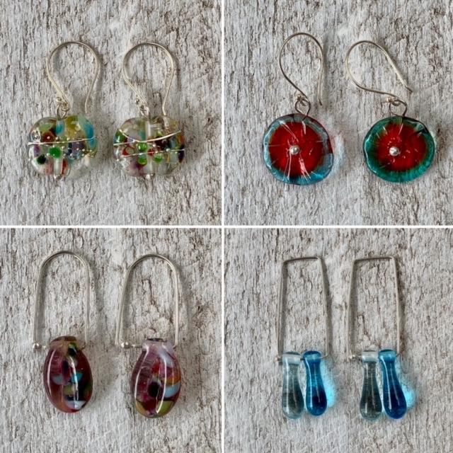 native flower earrings