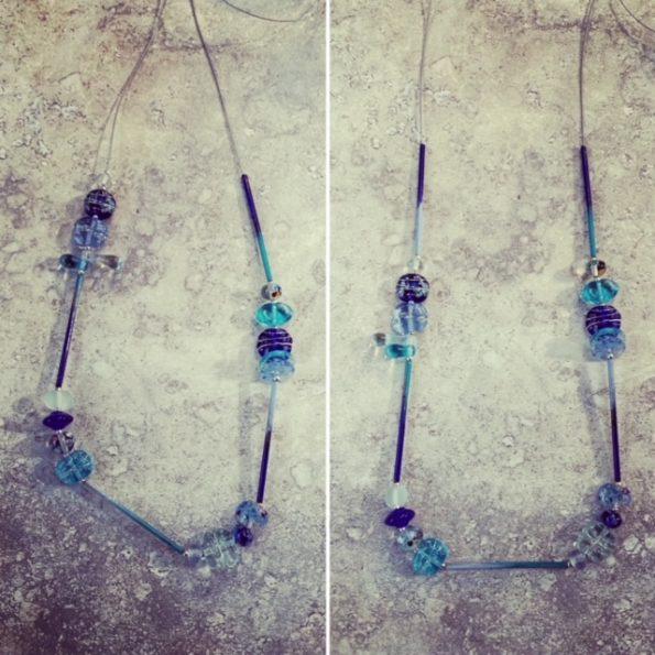 blue glass necklace