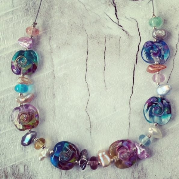 wave bead necklace