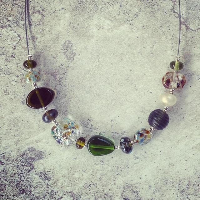 Bethany wine bottle bead necklace