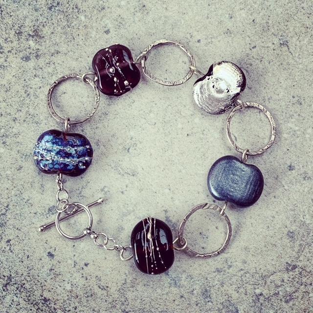 hendricks gin bottle bead bracelet